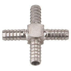 MicroMatic Stainless Steel Cross Fittings